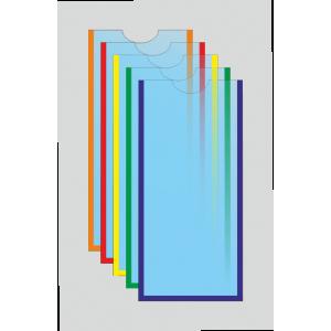 Карман под евроформат с круглым вырезом вертикальный (любой цвет)