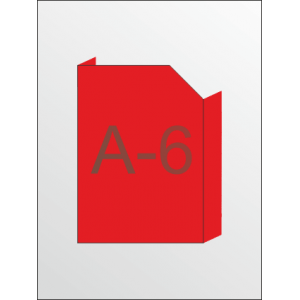 Карман объемный формат под А-6 с косым вырезом вертикальный (любой цвет)