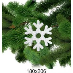 Праздничная снежинка из пенопласта, 180*206
