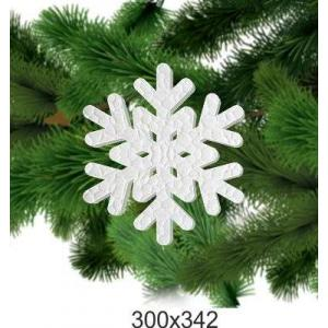 """Снежинка из пенопласта """"Рождество"""", 300*342"""