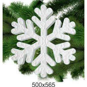 Новогодняя снежинка из пенопласта, 500*565