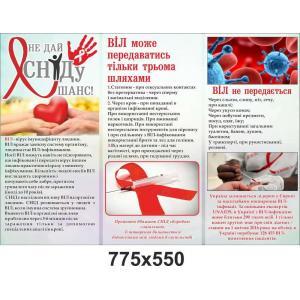 """Информационный стенд """"Не дай СПИДу шанс"""""""