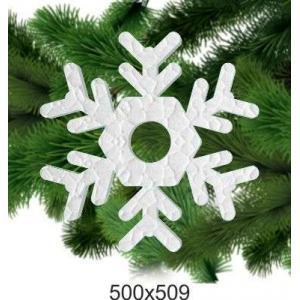 """Фигурная снежинка из пенопласта """"Новый Год"""", 500*509"""
