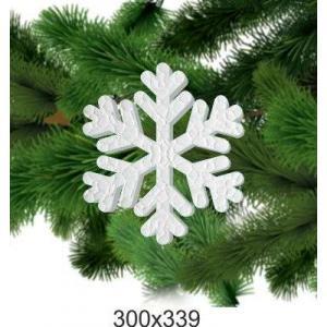Новогодняя снежинка из пенопласта, 300*339