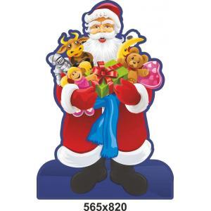 "Стенд-декорация ""Дед Мороз с подарками"""