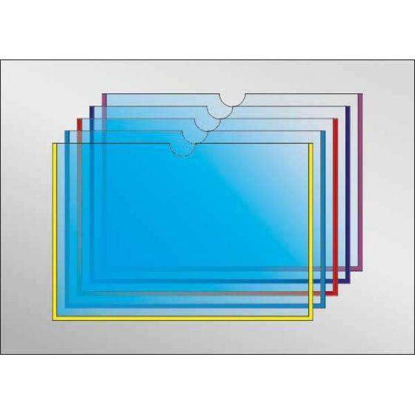 Карман под А5 формат с круглым вырезом горизонтальный (любой цвет)