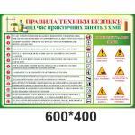Правила техніки безпеки під час практичних занять з хімії з докладним описом
