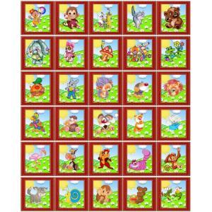 """Набор наклеек для детского сада """"Сказки. Красный"""""""