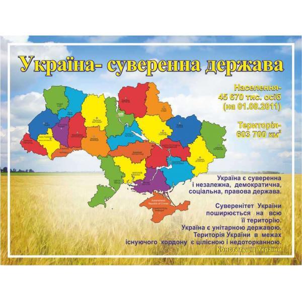 """Информационный стенд """"Украина- суверенное государство"""""""