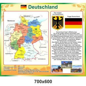 """Стенд """"Карта и достопримечательности Германии"""""""