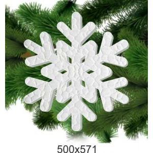 """Снежинка из пенопласта """"Рождество"""", 500*571"""
