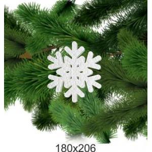 """Снежинка из пенопласта """"Рождество"""", 180*205"""
