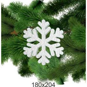 Новогодняя снежинка из пенопласта, 180*204