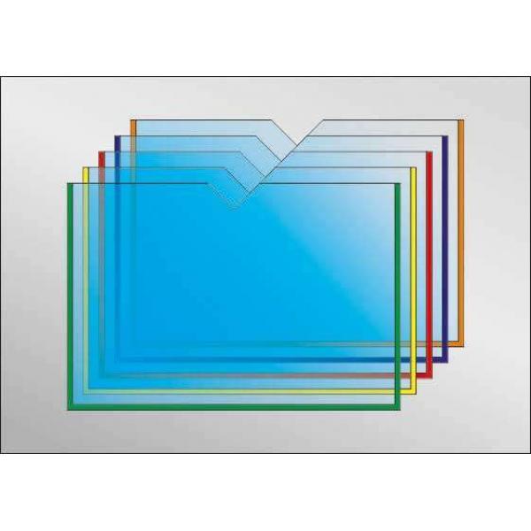 Карман под А5 формат с прямым вырезом горизонтальный (любой цвет)