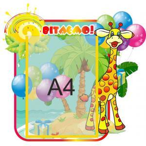 """Стенд с поздравлениями """"Жираф"""""""