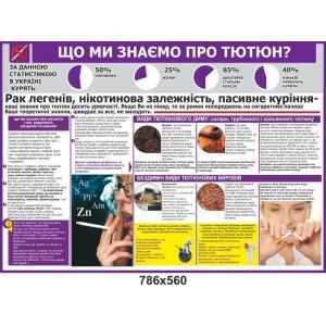 """Информационный стенд """"Что мы знаем о табаке"""""""