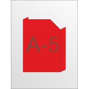 Карман объемный формат под А-5 с косым вырезом вертикальный (любой цвет)