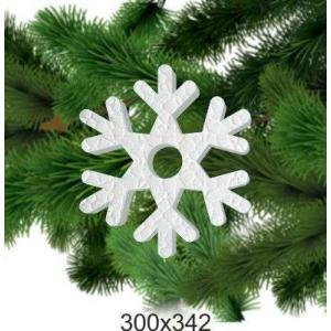 Праздничная снежинка из пенопласта, 300*342