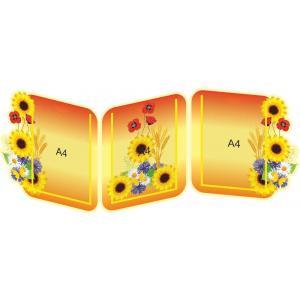 """Информационный стенд-ширма для детского сада """"Полевые цветы. Желтый"""""""