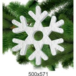 Праздничная снежинка из пенопласта, 500*571