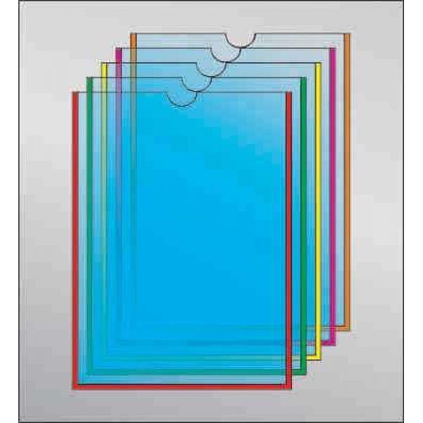Карман под А4 формат с круглым вырезом вертикальный