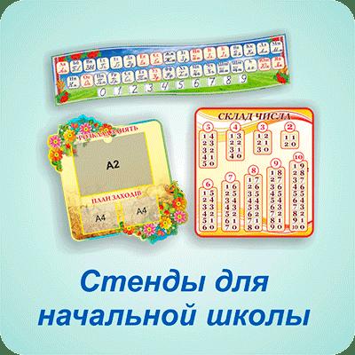 Стенды для начальной школы — Харьков