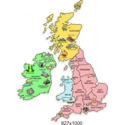 "Стенд ""Карта Великобритании"""