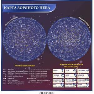 """Стенд """"Карта звездного неба"""""""