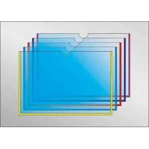 Карман под А6 формат с круглым вырезом, горизонтальный