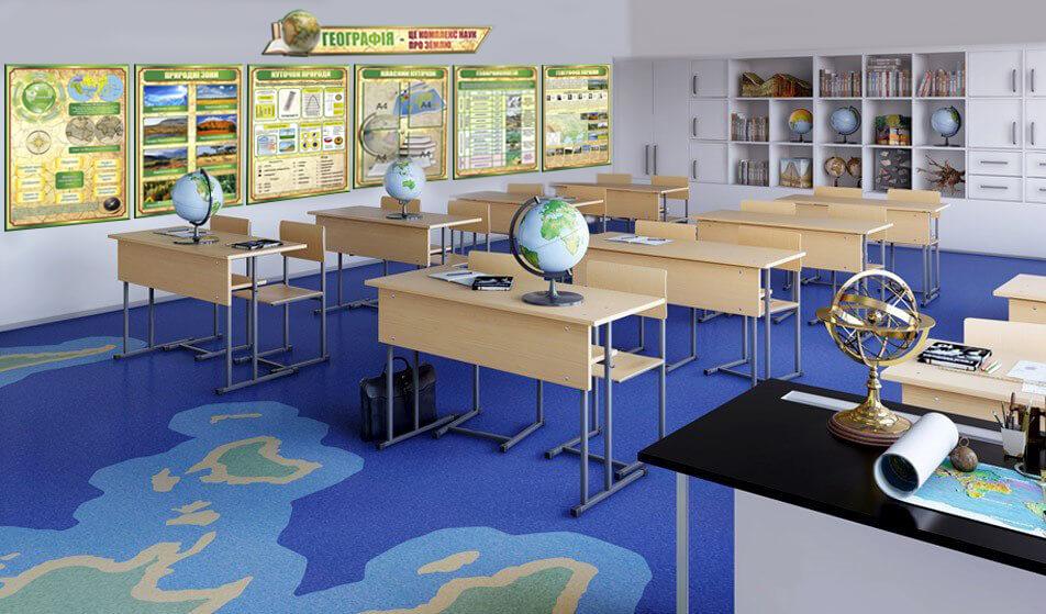 оформление кабинета географии